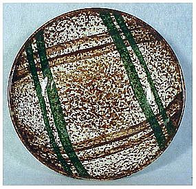 Rustic Plaid Blue Ridge Southern Pottery Fruit/desert