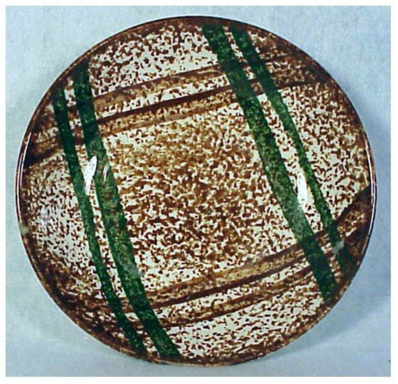 Rustic Plaid Blue Ridge Southern Pottery Fruit/desert