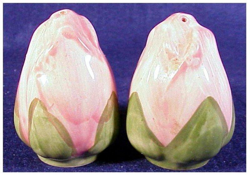Desert Rose salt and pepper (small rose) English stamp