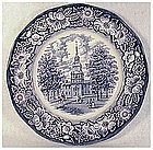Liberty Blue dinner plate floral rim  by Staffordshire