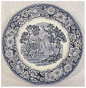 Liberty Blue bread and butter plate by Staffordshire
