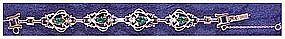 Barclay emerald and diamond colored rhinestone bracelet