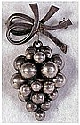 Sterling hanging grapes pin / brooch by Fogh, S. Char.