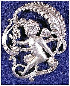 Cini sterling: Zodiac Virgo Pin (Aug 23-Sept 22)