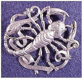 Cini sterling: Zodiac Scorpio Pin (Oct 24-No 21)