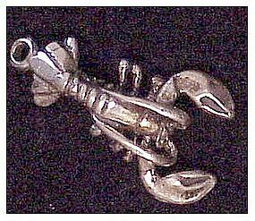 Sterling Silver Maine Lobster  Charm
