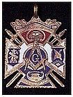 9K Masonic Blue Lodge enamel vintage watch fob
