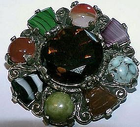 Miracle Scottish  or Celtic agate pin