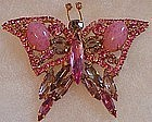 Juliana D & E pink rhinestone butterfly