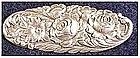 S. Kirk & Son 12F Sterling Rose repousse brooch / pin