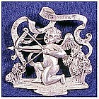 Cini sterling: Zodiac Sagitarius pin ( Nov 22 - Dec 21)