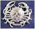 Cini sterling: Zodiac Cancer  Pin (June 22 - July 22)