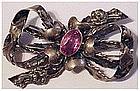 Hobe sterling bow brooch / pin
