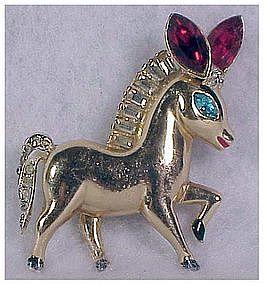 Coro Pegasus Adolph Katz donkey / horse pin