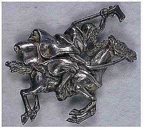"""Alexander Korda """"Thief of Bagdad"""" cloaked rider pin"""