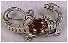 Reja sterling  lizard pin