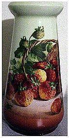 Z.S. & Co basket of strawberries Bavarian vase