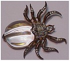 Trifari sterling 'Alfred Philippe' Jelly belly spider