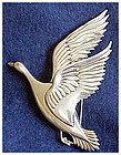 Coro Sterling Craft Goose in Flight - large