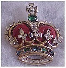 Trifari Coronation crown pin