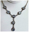 """Moonstone  ( 5.5 cts)  sterling lariat necklace - 16"""""""
