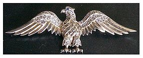 Trifari Vermeil Sterling Eagle Brooch