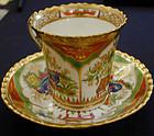 Chamberlain Worcester Bengal Tiger cup & saucer C.1800