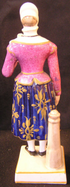 Pearlware Figure of Madam Vestris as the Brushwoman