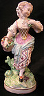 Derby Porcelain Large Figure of Female Gardener