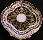 Derby Porcelain Shell Shaped Dish with Acanthus Leaf