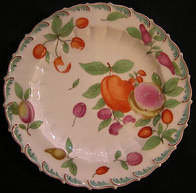Hand Painted Chelsea Soft Paste Porcelain Plate
