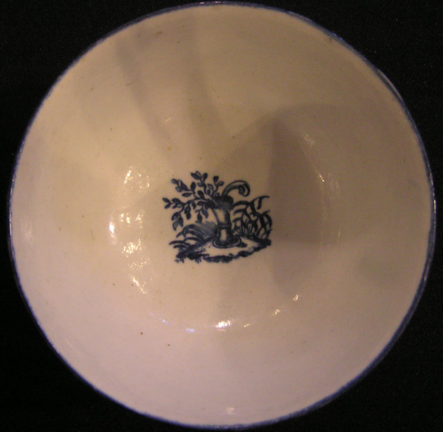 Caughley Soft Paste Porcelain Sugar Bowl