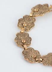 Theodore Fahrner Silver Gilt Pansie Form Link Bracelet