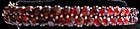 Victoria bracelet with double row of garnets, Ca 1880