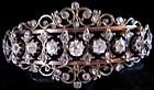 Bracelet of diamonds set in 18K and silver
