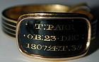 """Ring, enamel & 18K gold memorial ring for """"T. Parr"""" 1807"""