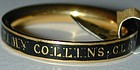 Ring, 18K gold memorial band for 'TIMY COLLINS CLERK 176