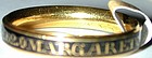 Ring, 18K gold memorial band for 'MARGARET DYKE 1764'