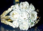 Ring, Georgian diamond ring in flower form in 18K gold