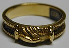 "Ring, motif of clasped hands or ""fede "" in 18K gold"