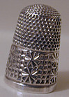THIMBLE, STERLING, hallmarked Birmingham, 1905