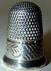 THIMBLE, STERLING, hallmarked London, 1896