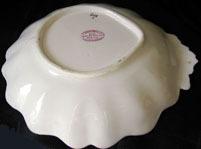 Ridgeway Porcelain Shell shaped dessert dish, Ca 1825