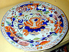 "Hicks & Meigh ironstone plate, ""water lily"" pattern"