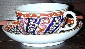 Worcester FLIGHT & BAR soft paste tea bowl & saucer, C.1795