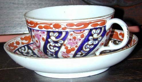 Worcester FLIGHT & BAR soft paste tea bowl & saucer, C.1795