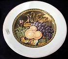 M.W.&Co Prattware plate. Wine ewer and fruit decoration