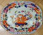 "Beautiful large Mason's ironstone platter, ""WaterLily"""