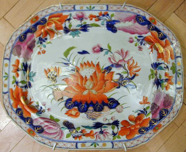 """Beautiful large Mason's ironstone platter, """"WaterLily"""""""