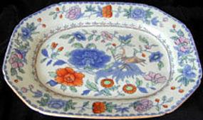 """Masons Patent Ironstone platter, """"grasshopper"""" pattern"""